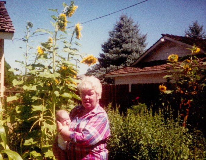 Mom and garden